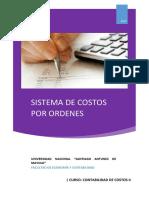 Sistemas de Costos Por Ordenes