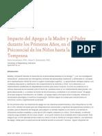 Impacto Del Apego a La Madre y Al Padre Durante Los Primeros Anos en El Desarrollo Psicosocial de Los Ninos Hasta La Adultez Temprana