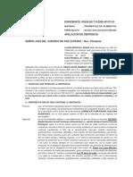 APELACION DE SENTENCIA - PRORRATEO -