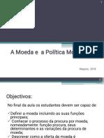 Aula 5- Economia II - Moeda