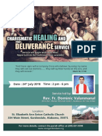 flyer for charismatic healing service flyer st