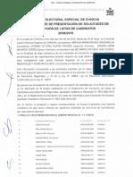 Acta de Cierre de Presentación de Solicitudes de Inscripcion de Listas de Candidatos