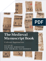 The Medieval Manuscript Book - Cultural Approaches
