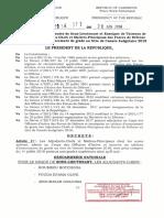 Decret N 2018 372 Du 20 Juin 2018 Portant Promotion Au Grade Ss Lieutenant(1)
