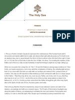 Papa Francesco Costituzione AP 20171208 Veritatis Gaudium
