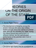 THEORIES on the Origin of the State