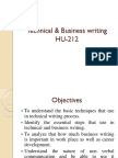 Technical & Business Writing