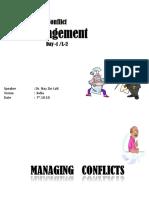 2. Conflict Management