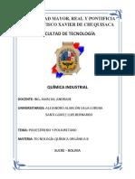 Luis Santi USFX Poliestireno y Poliuretano
