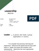 5. Leaders
