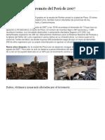 Terremoto Del Perú de 2007