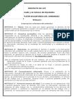 PROYECTO de LEY - Interrupción Voluntaria Del Embarazo