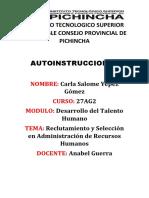 Instituto Tecnologico Superior Honorable Consejo Provincial de Pichincha