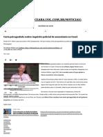 Carta Psicografada Reabre Inquérito Policial de Assassinato No Ceará