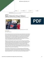 Ellis, J.higher Education's Deeper Sickness - WSJ