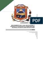 Tapas Expediente Municipio Huacullani
