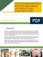 Determinación Voltamperométrica Desprendimiento de Mercurio(II) Basado en Electrodo de Oro