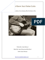 10 Must Know Jazz Guitar Licks eBook