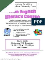 FREE English Literacy course