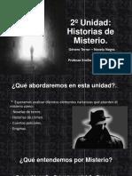 Unidad de Historias de misterio  8º Básico Lenguaje y Comunicación (Chile 2018)