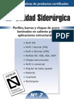 Fichas Informativas de Productos Certificados. Perfiles, Barras y Chapas de Acero Laminados en Caliente Para Aplicaciones Estructurales Nº 7