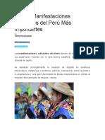 Las 10 Manifestaciones Culturales Del Perú Más Importantes