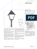 Westinghouse Lighting Colonial Series Post Top Spec Sheet 7-70