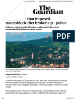 Italian 'sect' that imposed macrobiotic diet broken up – police | World news | The Guardian
