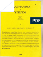 Montaner - Muxí - ARQUITECTURA Y POLÍTICA - Fragmento