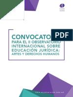 Convocatoria II Observatorio Internacional sobre Educación Jurídica