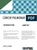 Cáncer Pulmonar - Metodologia