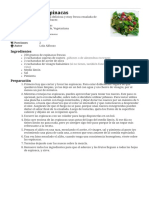 6 Recetas de Ensalada de Espinacas Fáciles - Comedera.com