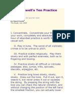Ten Practice Rules