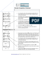 Chorale Completion Cribsheet