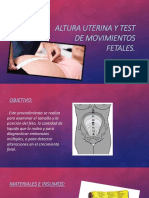 Altura Uterina y Test de Movimientos Fetales