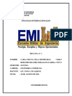 Practica de Finanzas Internacionales Balanza de Pagos
