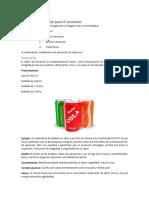 Gasesosa de Cola - Producto y Legislación