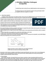 Hubungan Struktur Aktivitas Golongan Analgetika