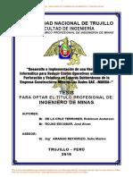 Tesis Para Optar El Título Profesional De_ Ingeniero de Minas