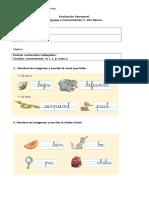 evaluación 1° basico primeras consonantes