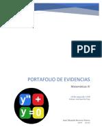 Portafolio Mate IV (ejercicios)