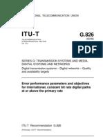 ITU-T Recommendation G.826 02-99