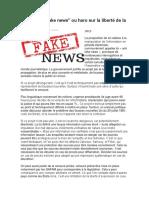 Loi Sur Les Fake News