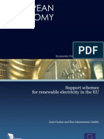 Support schemes for renewable electricity in the EU