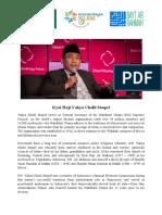 Kyai Haji Yahya Cholil Staquf Biography