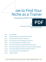 Find Your Niche as a Trainer