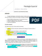 Patología Especial apuntes 2do parcial