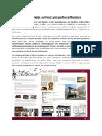 Etudes de Design Au Maroc