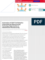 Automation of CAR-T Cell Adoptive Immunotherapy Bioprocessing