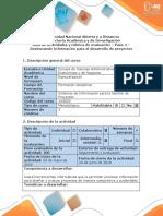Guía de Actividades y Rúbrica de Evaluación - Paso 4 - Gestionando Información Para El Desarrollo de Proyectos